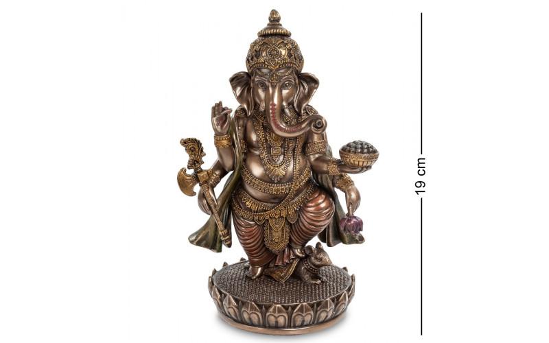 Ганеш на лотосе - Бог мудрости и благополучия алтарная статуэтка