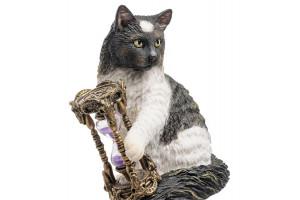 Кот с песочными часами (Лиза Паркер) Алтарная статуэтка