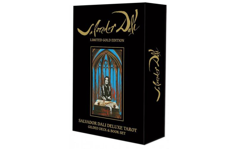 Карты Таро Сальвадор Дали Делюкс (Золотое издание) / Salvador Dali Deluxe Tarot: Gilded Deck & Book Set (Gold edition)