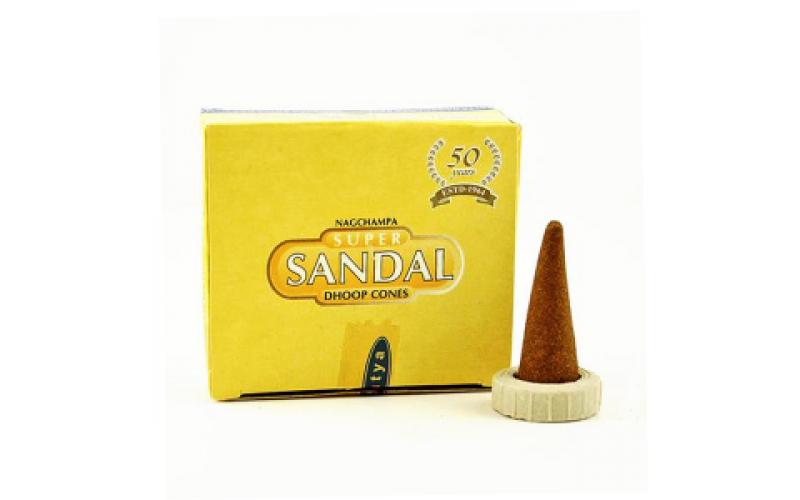 Благовония-конусы Satya Super Sandal Супер Сандал