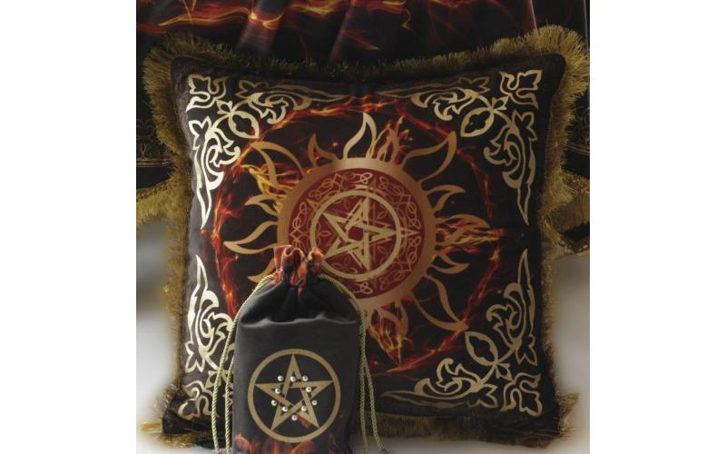 Подушка Пентаграмма Волшебный огонь (бархат)
