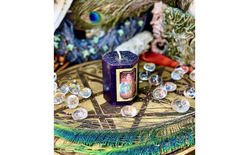 Защита ведьмы свеча травяная